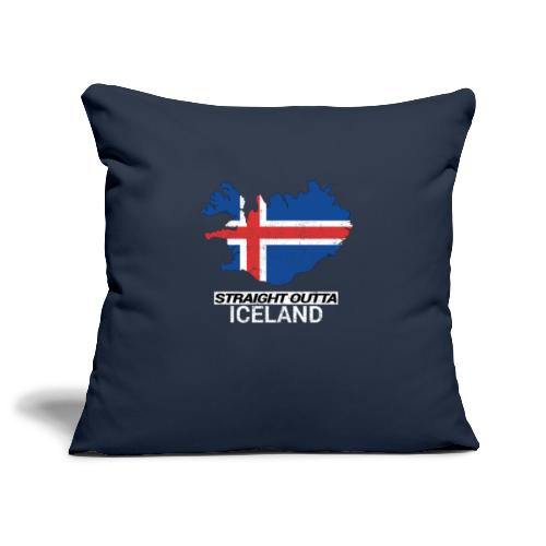 Straight Outta Iceland country map - Sofa pillowcase 17,3'' x 17,3'' (45 x 45 cm)