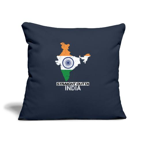 Straight Outta India (Bharat) country map flag - Sofa pillowcase 17,3'' x 17,3'' (45 x 45 cm)