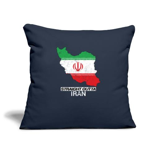 Straight Outta Iran country map & flag - Sofa pillowcase 17,3'' x 17,3'' (45 x 45 cm)