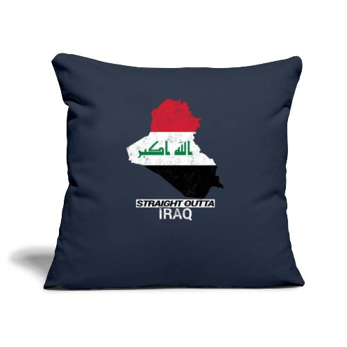 Straight Outta Iraq country map & flag - Sofa pillowcase 17,3'' x 17,3'' (45 x 45 cm)