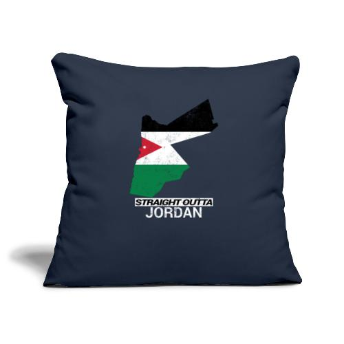 Straight Outta Jordan country map - Sofa pillowcase 17,3'' x 17,3'' (45 x 45 cm)