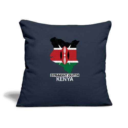 Straight Outta Kenya country map & flag - Sofa pillowcase 17,3'' x 17,3'' (45 x 45 cm)