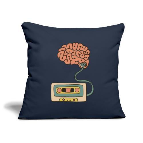 Musikkassette am Gehirn - Sofakissenbezug 44 x 44 cm
