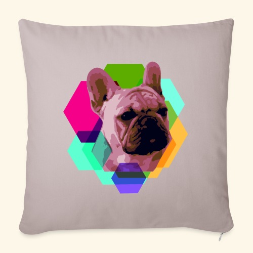 French Bulldog head - Housse de coussin décorative 45x 45cm