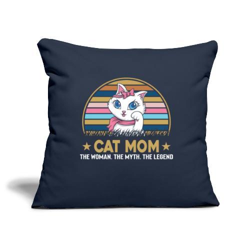 CAT MOM - Housse de coussin décorative 45x 45cm