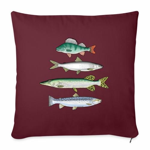 FOUR FISH - Ahven, siika, hauki ja taimen tuotteet - Sohvatyynyn päällinen 45 x 45 cm