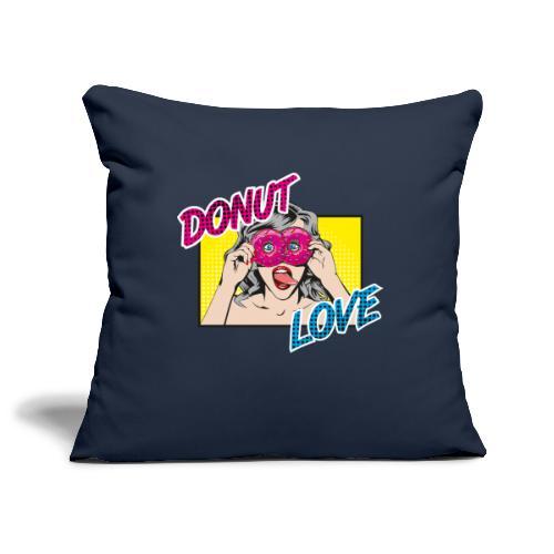 Popart - Donut Love - Zunge - Süßigkeit - Sofakissenbezug 44 x 44 cm