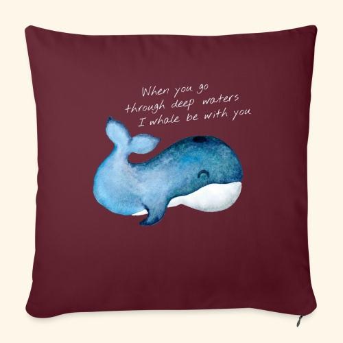 Whale deep waters - Sofakissenbezug 44 x 44 cm