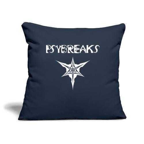 Psybreaks visuel 1 - text - white color - Housse de coussin décorative 45x 45cm