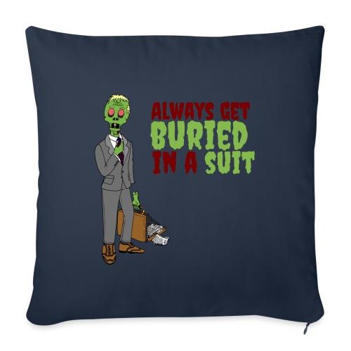 Buried in Suit - Sofa pillowcase 17,3'' x 17,3'' (45 x 45 cm)