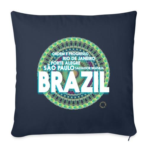 Lemon Brazil Mandala - Housse de coussin décorative 45x 45cm