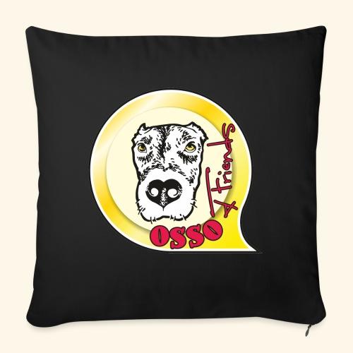 Osso4Friends official logo - Copricuscino per divano, 45 x 45 cm