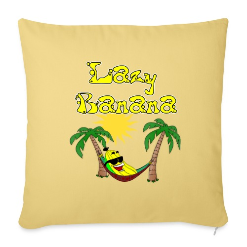 Who is as chilly as the Lazy Banana - Sofa pillowcase 17,3'' x 17,3'' (45 x 45 cm)