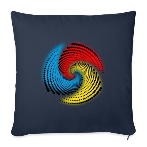Farbspirale - Sofakissenbezug 44 x 44 cm