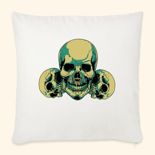 Skull - Housse de coussin décorative 45x 45cm