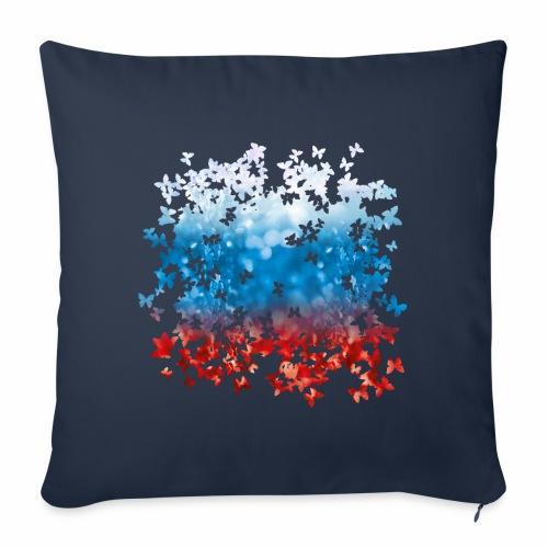 06 Russland Flagge Fahne Russia Schmetterlinge - Sofakissenbezug 44 x 44 cm