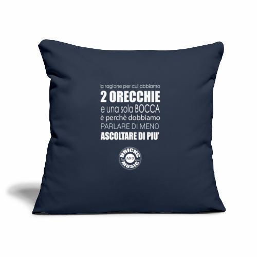 Ascoltare di più - Copricuscino per divano, 45 x 45 cm