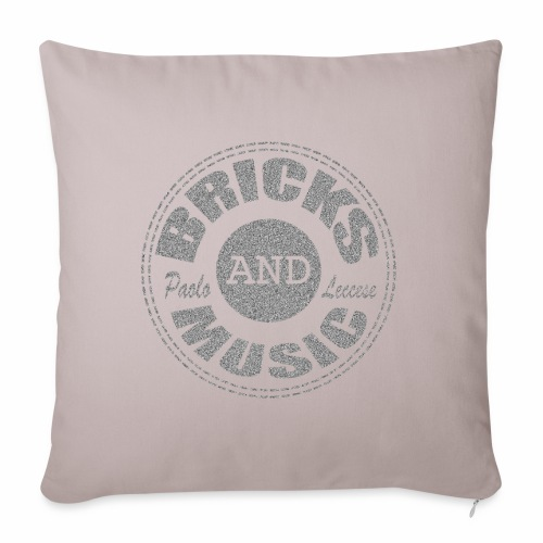 Bricks and Music - Copricuscino per divano, 45 x 45 cm