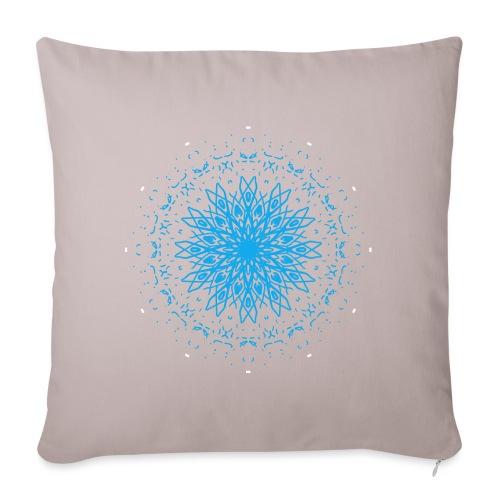 Mandala of ice - Sofa pillowcase 17,3'' x 17,3'' (45 x 45 cm)
