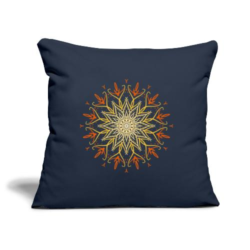 Mandala of fire - Sofa pillowcase 17,3'' x 17,3'' (45 x 45 cm)