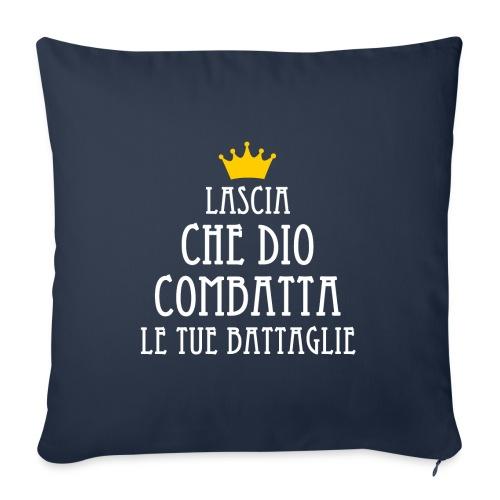 Lascia che Dio combatta le tue battaglie B - Copricuscino per divano, 45 x 45 cm