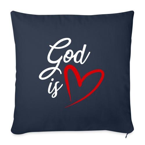 God is love 2B - Copricuscino per divano, 45 x 45 cm