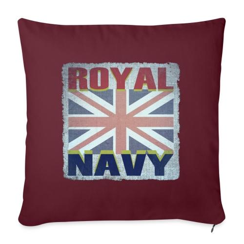 ROYAL NAVY - Sofa pillowcase 17,3'' x 17,3'' (45 x 45 cm)