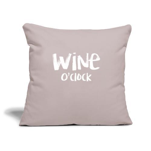 Wine o'clock - Sierkussenhoes, 45 x 45 cm