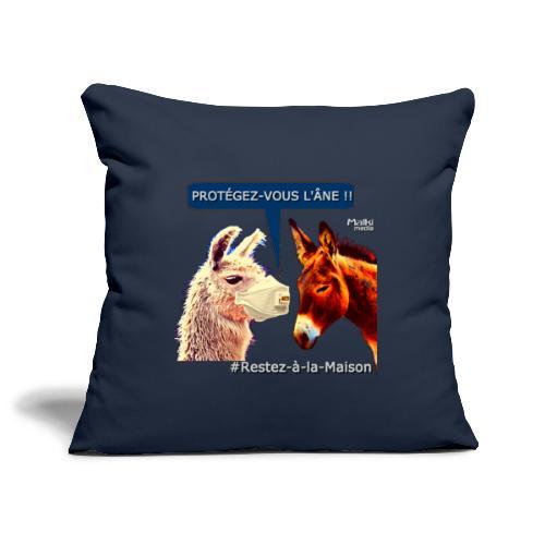 PROTEGEZ-VOUS L'ÂNE !! - Coronavirus - Sofa pillowcase 17,3'' x 17,3'' (45 x 45 cm)