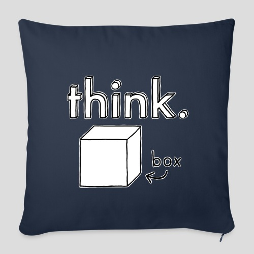 Think Outside The Box Illustration - Sofa pillowcase 17,3'' x 17,3'' (45 x 45 cm)
