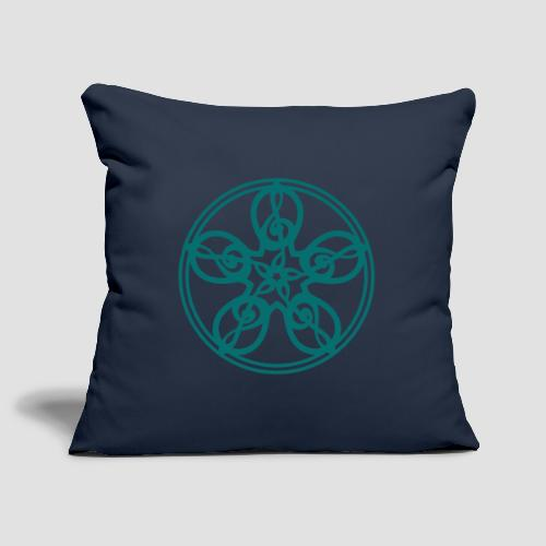 Treble Clef Mandala (teal) - Sofa pillowcase 17,3'' x 17,3'' (45 x 45 cm)