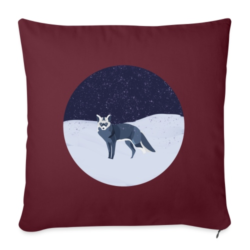 Blue fox - Sohvatyynyn päällinen 45 x 45 cm