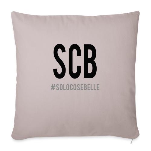 scb scritta nera - Copricuscino per divano, 45 x 45 cm