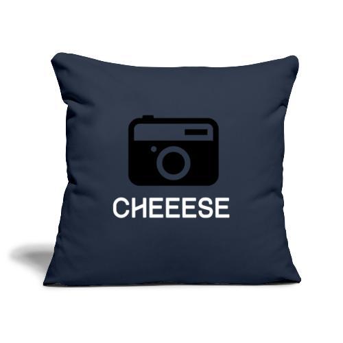 Cheese Fotograf Kamera - Sofakissenbezug 44 x 44 cm