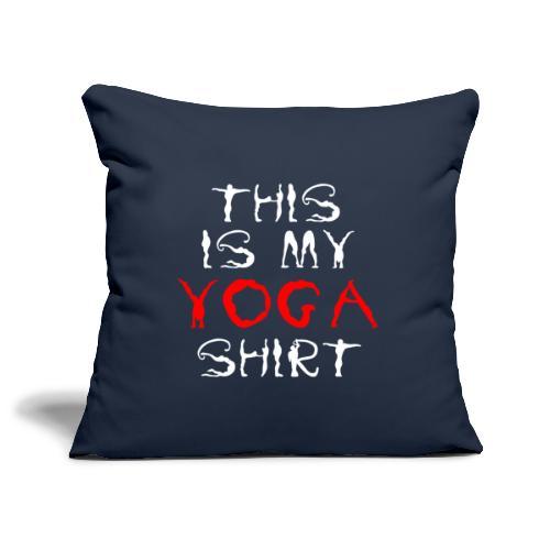 camicia yoga sport bianco spiritualità meditazione arte - Copricuscino per divano, 45 x 45 cm