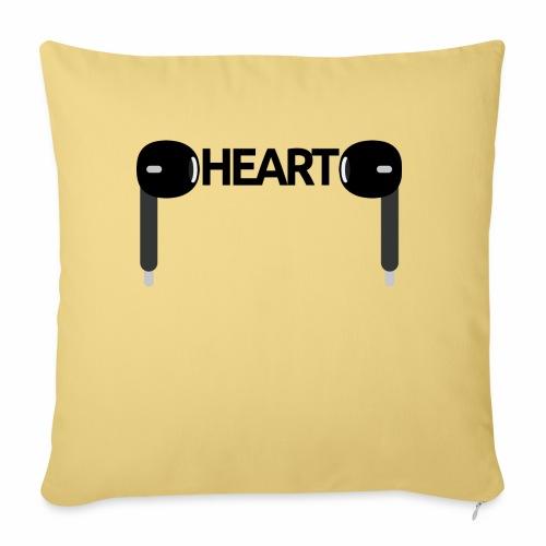 ListenToYourHeart - Poszewka na poduszkę 45 x 45 cm