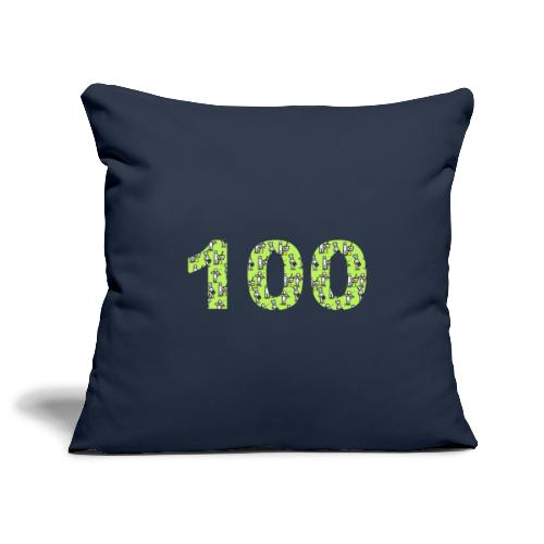 white man 100 followers - Copricuscino per divano, 45 x 45 cm