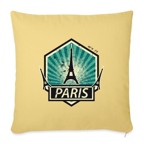 PARIS, FRANCE - Sofa pillowcase 17,3'' x 17,3'' (45 x 45 cm)