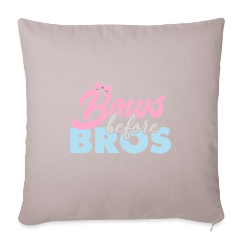 Bows Before Bros - Sofa pillowcase 17,3'' x 17,3'' (45 x 45 cm)