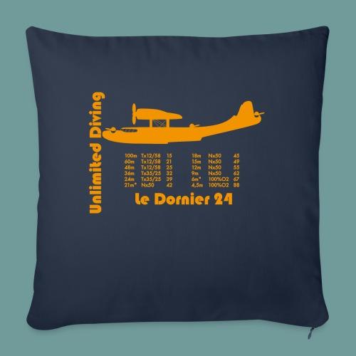 dornier_tx_orange2 - Housse de coussin décorative 45x 45cm
