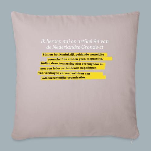 Nederlandse Grondwet T-Shirt - Artikel 94 - Sierkussenhoes, 45 x 45 cm