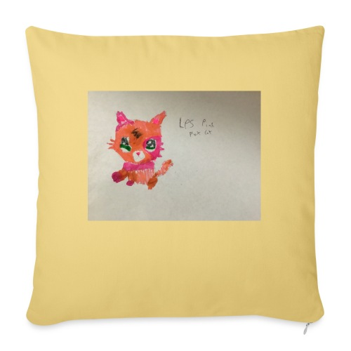 Little pet shop fox cat - Sofa pillowcase 17,3'' x 17,3'' (45 x 45 cm)