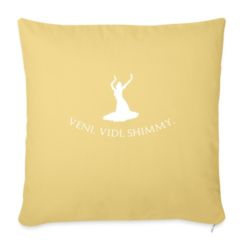 Veni Vidi Shimmy White - Sofa pillowcase 17,3'' x 17,3'' (45 x 45 cm)