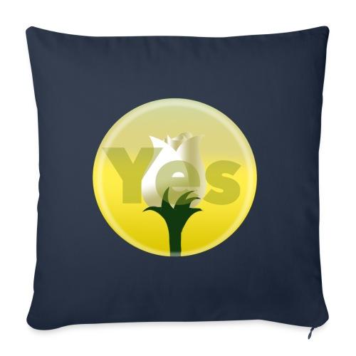 Yes rose - Sofa pillowcase 17,3'' x 17,3'' (45 x 45 cm)