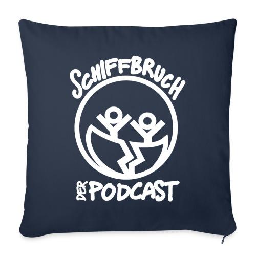 Schiffbruch - Der Podcast (weiß) - Sofakissenbezug 44 x 44 cm