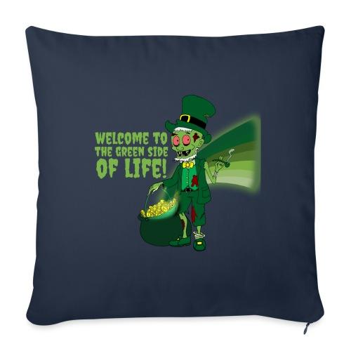 green side - Sofa pillowcase 17,3'' x 17,3'' (45 x 45 cm)