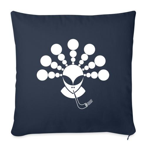 The Smoking Alien White - Sofa pillowcase 17,3'' x 17,3'' (45 x 45 cm)