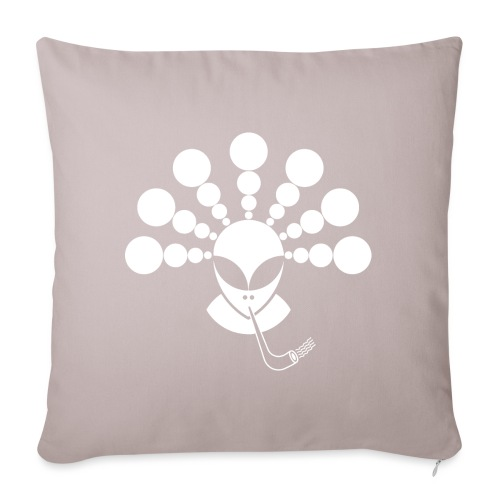 The Smoking Alien White - Sofa pillowcase 17,3'' x 17,3'' (45 x 45 cm)