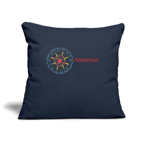 Attention - Sofa pillowcase 17,3'' x 17,3'' (45 x 45 cm)