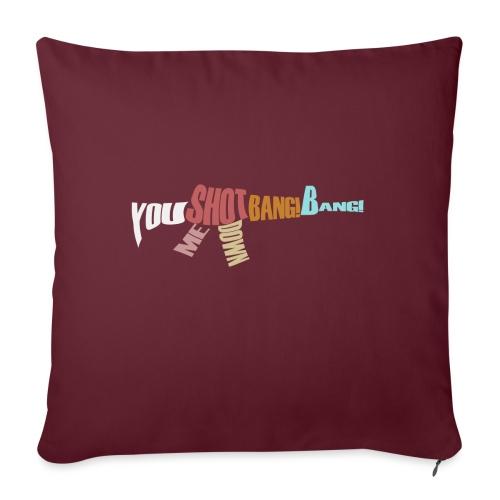 Bang bang - Sofa pillowcase 17,3'' x 17,3'' (45 x 45 cm)